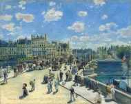 Pont-Neuf, Paris painting reproduction, Pierre-Auguste Renoir