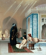 Pool in a Harem painting reproduction, Jean-Leon Gerome