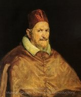 Pope Innocent X painting reproduction, Diego Velazquez