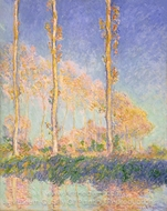 Poplars painting reproduction, Claude Monet