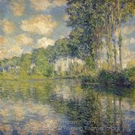 Poplars on the Banks of the River Epte painting reproduction, Claude Monet