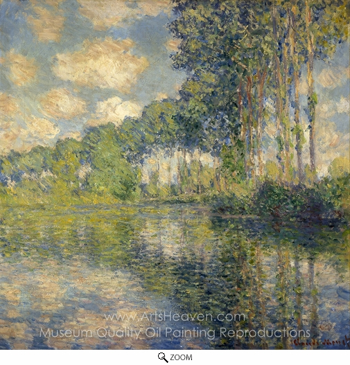 Claude Monet, Poplars on the Banks of the River Epte oil painting reproduction