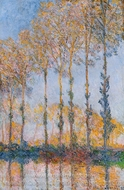Poplars, White and Yellow Effect painting reproduction, Claude Monet