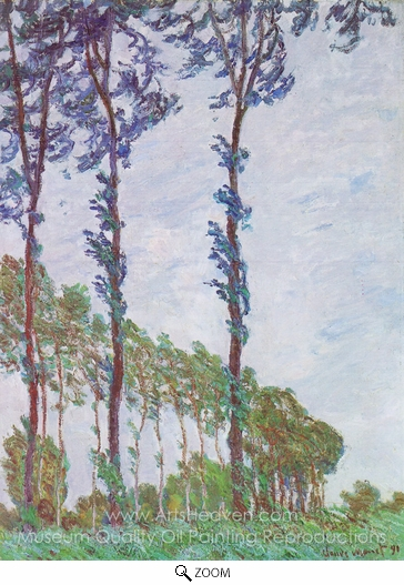 Claude Monet, Poplars, Wind Effect oil painting reproduction