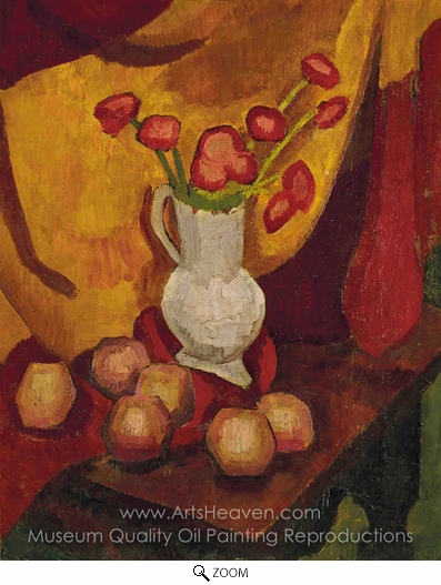 Roger De La Fresnaye, Poppies in a Vase oil painting reproduction