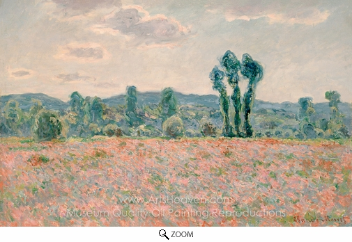 Claude Monet, Poppy Field oil painting reproduction