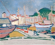 Port painting reproduction, Andre Derain