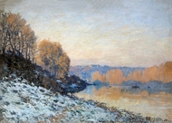 Port Marly painting reproduction, Alfred Sisley