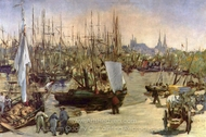 Port of Bordeaux painting reproduction, �douard Manet