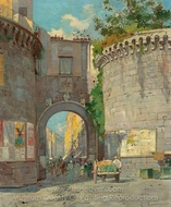 Porta Nolana painting reproduction, Carlo Brancaccio