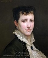 Portrait de Mademoiselle Elizabeth Gardner painting reproduction, William A. Bouguereau