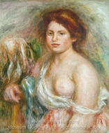 Portrait de Modele en Buste painting reproduction, Pierre-Auguste Renoir