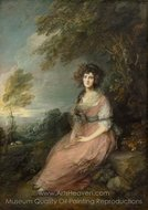 Portrait if Mrs. Richard Brinsley Sheridan painting reproduction, Thomas Gainsborough