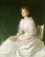 Portrait in White painting reproduction, Frank Weston Benson
