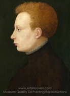 Portrait of a Boy painting reproduction, French Painter