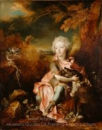 Portrait of a Boy in Fancy Dress painting reproduction, Nicolas De Largilliere