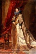 Portrait of a Genoese Noblewoman painting reproduction, Sir Anthony Van Dyck