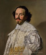 Portrait of a Gentleman in White painting reproduction, Frans Hals