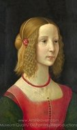 Portrait of a Girl painting reproduction, Domenico Ghirlandaio