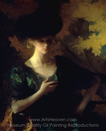 Portrait of a Lady painting reproduction, Frank Weston Benson