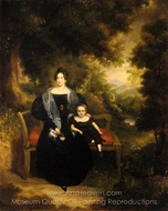 Portrait of a Lady and Child painting reproduction, George W. Twibill Jr.
