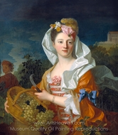 Portrait of a Lady as Pomona painting reproduction, Jean Ranc