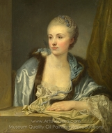 Portrait of a Lady (Madame de Gieon) painting reproduction, French Painter