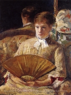 Portrait of a Lady (Miss Mary Ellison) painting reproduction, Mary Cassatt