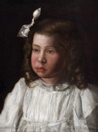 Portrait of a Little Girl painting reproduction, Thomas Eakins