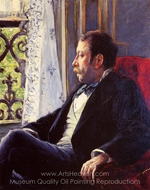 Portrait of a Man painting reproduction, Gustave Caillebotte