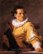 Portrait of a Man Called 'The Warrior' painting reproduction, Jean-Honore Fragonard