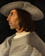 Portrait of a Man in Profile painting reproduction, Italian Painter