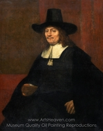 Portrait of a Man, Seated painting reproduction, Rembrandt Van Rijn