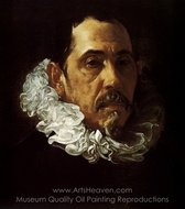 Portrait of a Man with a Goatee painting reproduction, Diego Velazquez