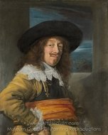Portrait of a Member of the Haarlem Civic Guard painting reproduction, Frans Hals