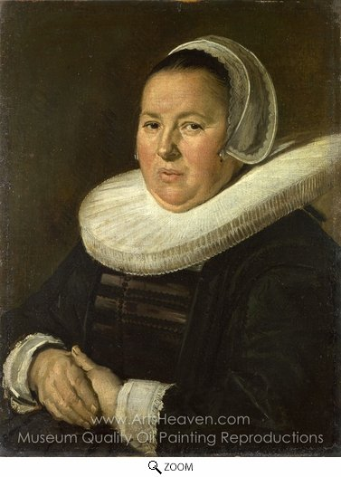 Frans Hals, Portrait of a Middle-Aged Woman with Hands Folded oil painting reproduction