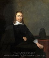 Portrait of a Seated Man painting reproduction, Gerard Ter Borch