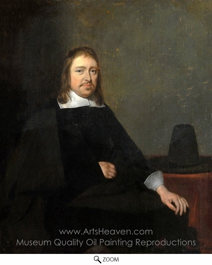 Gerard Ter Borch, Portrait of a Seated Man oil painting reproduction