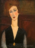 Portrait of a Woman painting reproduction, Amedeo Modigliani
