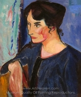 Portrait of a Woman painting reproduction, Alfred Henry Maurer