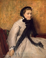 Portrait of a Woman in Gray painting reproduction, Edgar Degas
