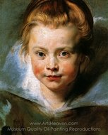 Portrait of a Young Girl (Clara Serena Rubens) painting reproduction, Peter Paul Rubens
