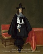 Portrait of a Young Man painting reproduction, Gerard Ter Borch