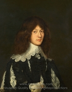 Portrait of a Young Man in Black painting reproduction, Dutch Painter