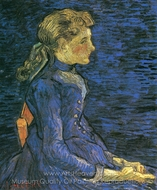 Portrait of Adeline Ravoux painting reproduction, Vincent Van Gogh
