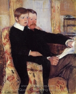 Portrait of Alexander J. Cassatt and His Son painting reproduction, Mary Cassatt