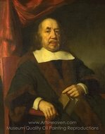 Portrait of an Elderly Man in a Black Robe painting reproduction, Nicolaes Maes