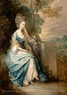Portrait of Anne, Countess of Chesterfield painting reproduction, Thomas Gainsborough