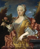 Portrait of Barbara of Portugal painting reproduction, Jean Ranc