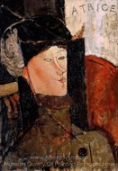 Portrait of Beatrice Hastings painting reproduction, Amedeo Modigliani